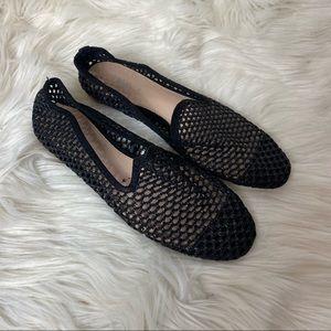 Zara black die-cut flat shoes